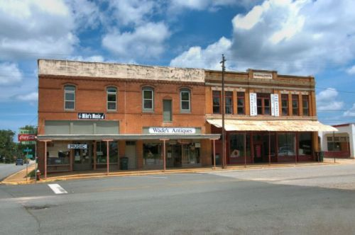 Marion Drugs Building Clements Building Historic Downtown Buena Vista GA Photograph Copyriht Brian Brown Vanishing South Georgia USA 2015