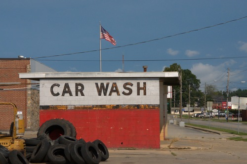 Millen GA Screven County Car Wash Photograph Copyright Brian Brown Vanishing South Georgia USA 2015