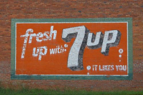 Old Marion Drugstore 7Up Mural Buena Vista GA Photograph Copyright Brian Brown Vanishing South Georgia USA 2015