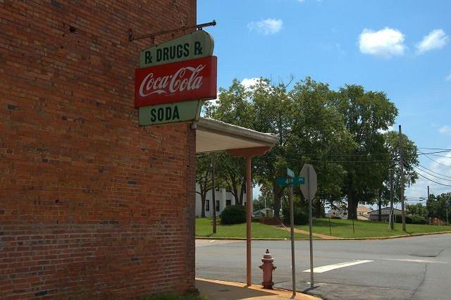 Old Marion Drugstore Coca Cola Sign Buena Vista GA Photograph Copyright Brian Brown Vanishing South Georgia USA 2015