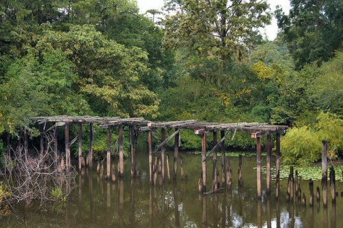 Old Ogeechee Road Screven County GA Abandoned Wooden Bridge Photograph Copyright Brian Brown Vanishing South Georgia USA 2015