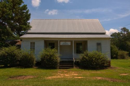 Old Tazewell School House Marion County GA Photograph Copyright Brian Brown Vanishing South Georgia USA 2015