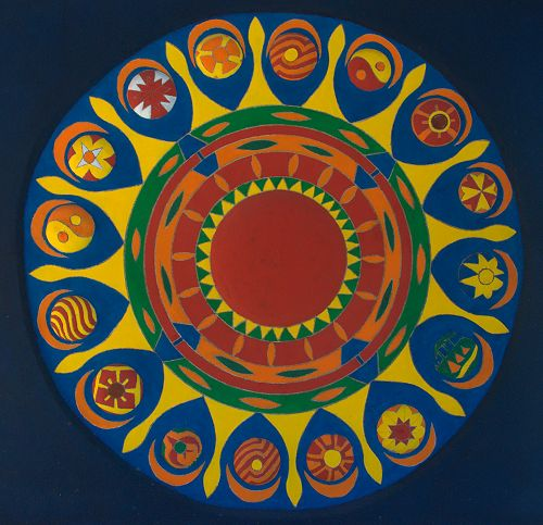 Pasaquan Marion County GA St EOM Mandala Photograph Copyright Brian Brown Vanishing South Georgia USA 2015