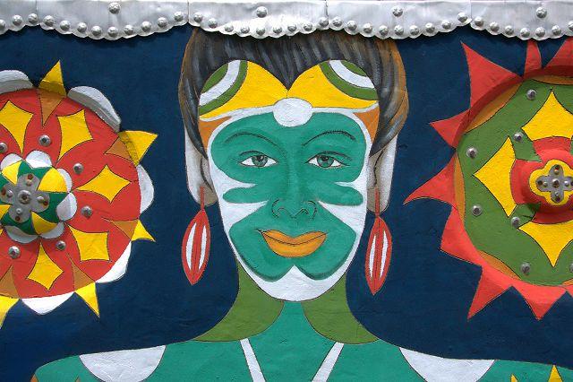 Pasaquan Outsider Art St EOM Buena Vista GA Wall Mural Face Photograph Copyright Brian Brown Vanishing South Georgia USA 2015