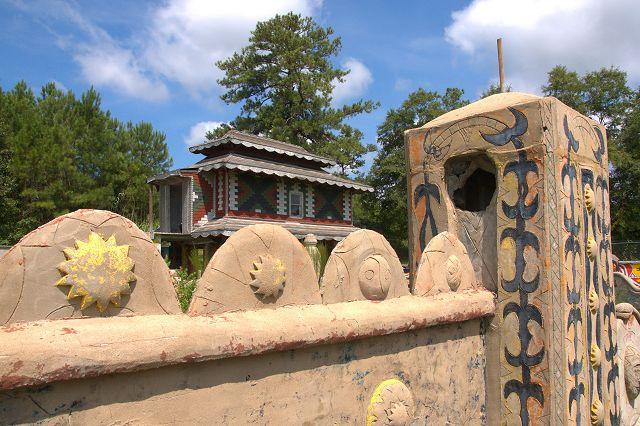 Pasaquan Outsider Art Universe of St EOM Buena Vista GA Restorations in Progress Photograph Copyright Brian Brown Vanishing South Georgia USA 2015