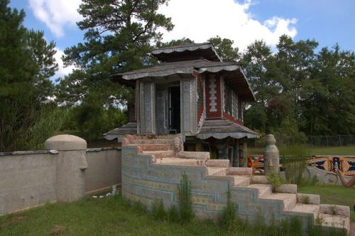 Pasaquan Pagoda Being Restored by Erika Nelson Photograph Copyright Brian Brown Vanishing South Georgia USA 2015