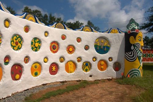 Pasaquan Restorations by Kohler Foundation Marion County GA Outsider Art St EOM Walls Photograph Copyright Brian Brown Vanishing South Georgia USA 2015