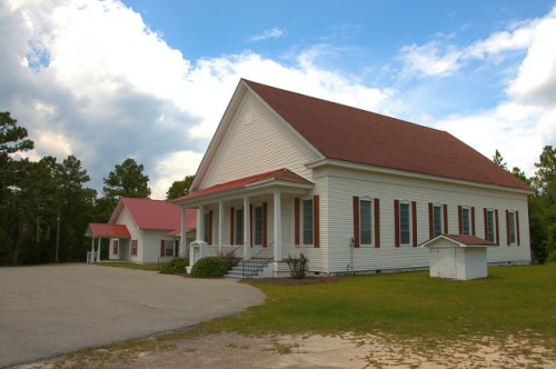 Rosemary Primitive Baptist Church 1875 Candler County GA Photograph Copyright Brian Brown Vanishing South Georgia USA 2015