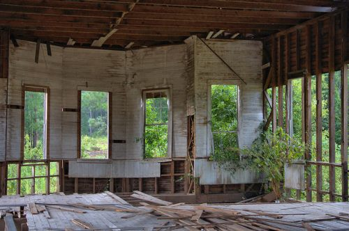 Screven County GA Abandoned Church Interior Near Hiltonia Photograph Copyright Brian Brown Vanishing South Georgia USA 2015