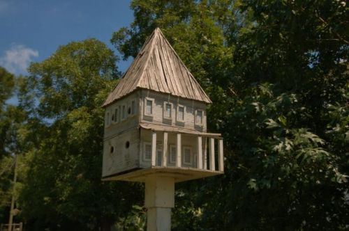 Tazewell GA First Marion County Seat Folk Art Bird House Photograph Copyright Brian Brown Vanishing South Georgia USA 2015