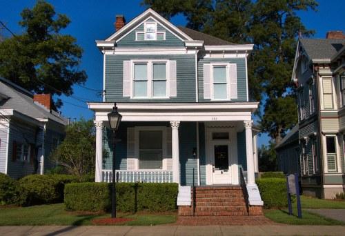 Columbus GA Historic District Colonial Revival House Photograph Copyright Brian Brown Vanishing South Georgia USA 2015