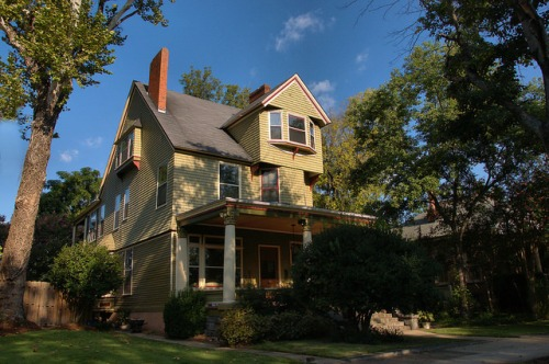 Columbus GA Historic District Shingle Sided House Photograph Copyright Brian Brown Vanishing South Georgia USA 2015