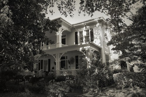 Historic Columbus GA Carpenter Italianate House Photograph Copyright Brian Brown Vanishing South Georgia USA 2015