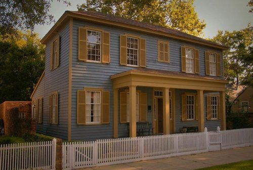 Historic Columbus GA Federal Style House Photograph Copyright Brian Brown Vanishing South Georgia USA 2015