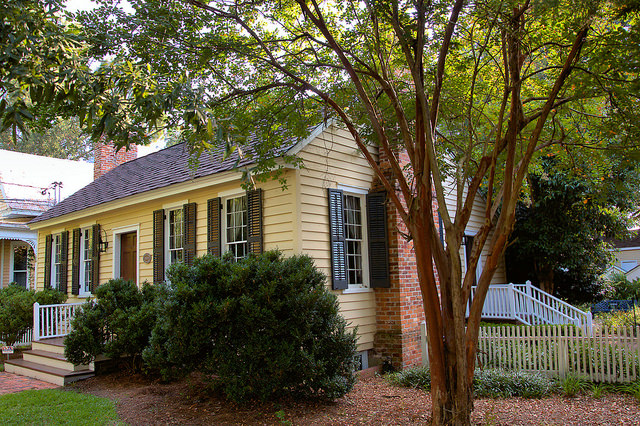 Historic Columbus GA Walkers Peters Langdon House Early Prefabricated Architecture Photograph Copyright Brian Brown Vanishing South Georgia USA 2015