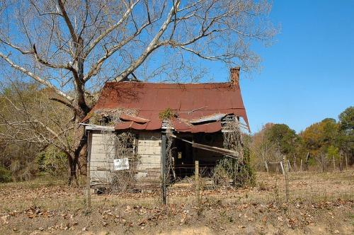 Alamo GA Wheeler County Tenant Farm House Tar Paper Photograph Copyright Brian Brown Vanishing South Georgia USA 2015