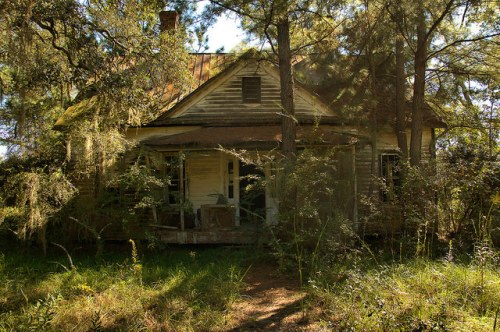 Bryan County GA Abandoned Farmhouse Photograph Copyright Brian Brown Vanishing South Georgia USA 2015