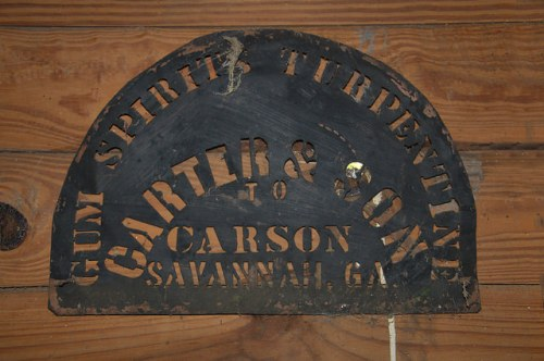Catface Turpentine Festival Portal GA Carter & Son Marker Museum Photograph Copyright Brian Brown Vanishing South Georgia USA 2015