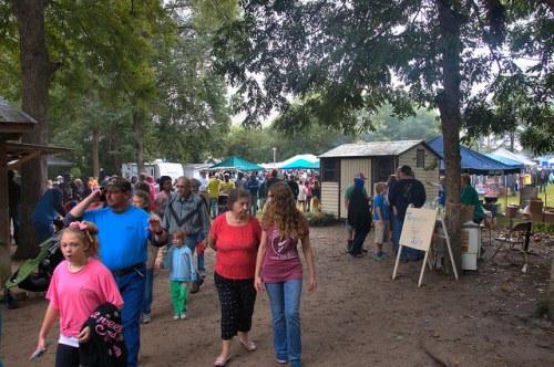 Catface Turpentine Festival Portal GA Crowds Photograph Copyright Brian Brown Vanishing South Georgia USA 2015