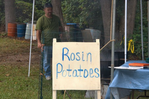 Catface Turpentine Festival Portal GA Rosin Baked Potatoes Photograph Copyright Brian Brown Vanishing South Georgia USA 2015