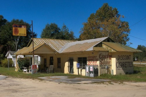 Groveland GA Kwik Chek Country Store Bryan County Photograph Copyright Brian Brown Vanishing South Georgia USA 2015