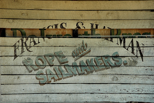 Groveland GA Sailmakers Sign Movie Set for Glory Photograph Copyright Brian Brown Vanishing South Georgia USA 2015