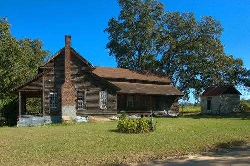 Tattnall County GA Vernacular Farmhouse Baxter Durrence Road Photograph Copyright Brian Brown Vanishing South Georgia USA 2015