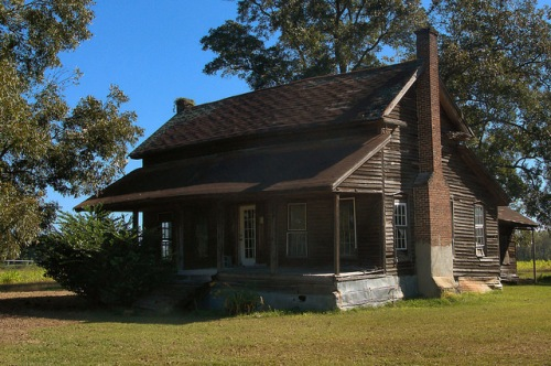 Tattnall County GA Vernacular Farmhouse Photograph Copyright Brian Brown Vanishing South Georgia USA 2015