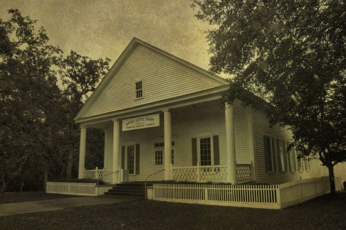 Upper Lotts Creek Primitive Baptist Church Bulloch County GA Photograph Copyright Brian Brown Vanishing South Georgia USA 2015