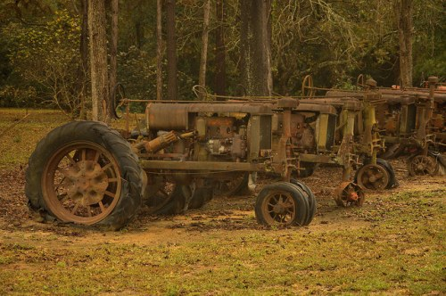 Antique Tractors Parts Salvage Pavo GA Photograph Copyright Brian Brown Vanishing South Georgia USA 2015