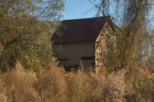 Ben Hill County GA Abandoned Tobacco Barn Photograph Copyright Brian Brown Vanishing South Georgia USA 2015