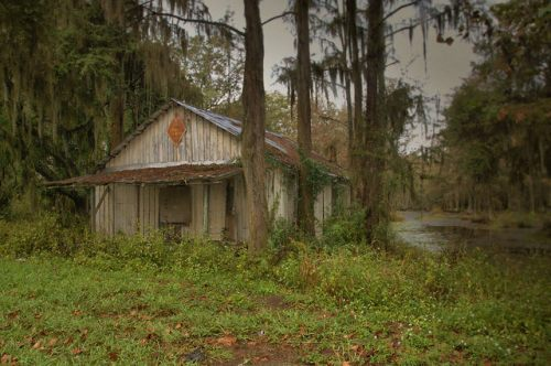 Brewer Popes Millpond Store Brooks County GA Cypress Pond Photograph Copyright Brian Brown Vanishing South Georgia USA 2015