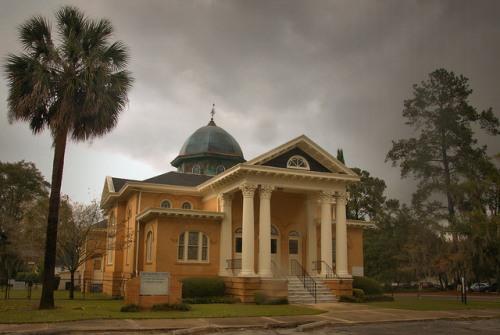 Historic First Presbyterian Church Quitman GA Photograph Copyright Brian Brown Vanishing South Georgia USA 2015