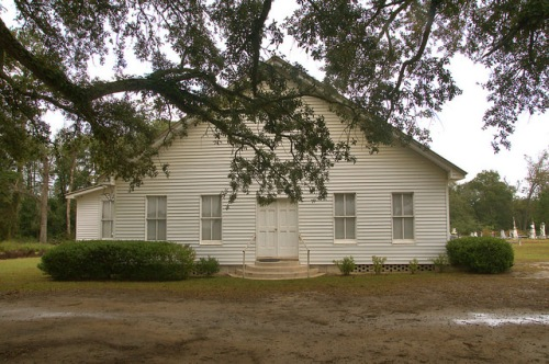 Historic Harmony Primitive Baptist Churh Barwick GA Brooks County Photograph Copyright Brian Brown Vanishing South Georgia USA 2015