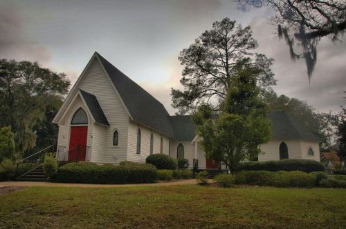 Historic St James Episcopal Church Quitman GA Photograph Copyright Brian Brown Vanishing South Georgia USA 2015