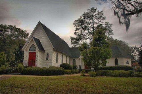 Historic St James Episcopal Church Quitman GA Photograph Copyright Brian Brown Vanishing South Georgia USA 2015