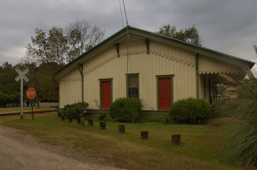 Metcalfe GA Thomas County Savannah Florida & Western Railroad Depot Photograph Copyright Brian Brown Vanishing South Georgia USA 2015