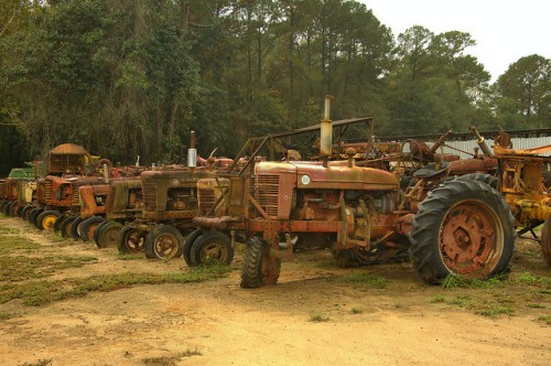Pavo GA Brooks County Tractor Salvage T&H Old Tractors Parts Photograph Copyright Brian Brown Vanishing South Georgia USA 2015