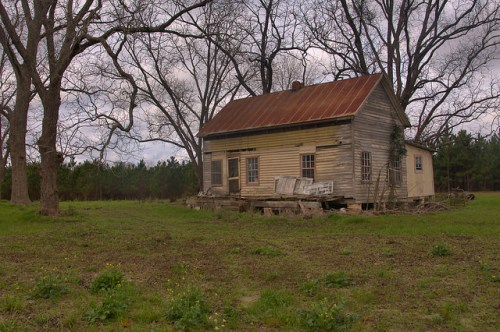 Abandoned Farmhouse Heath Crossing Telfair County GA Photograph Copyright Brian Brown Vanishing South Georgia USA 2015
