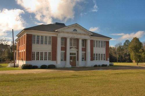 Chauncey School Dodge County GA Landmark Photograph Copyright Brian Brown Vanishing South Georgia USA 2015