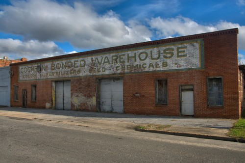 Cochran Bonded Cotton Warehouse GA Photograph Copyright Brian Brown Vanishing South Georgia USA 2015