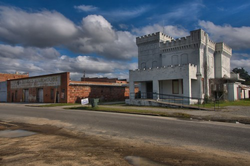 Cochran GA Beech Street Landmarks Jail Cotton Warehouse Photograph Copyright Brian Brown Vanishing South Georgia USA 2015