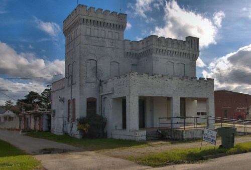 Cochran GA Old Bleckley County Jail Castle Style Photograph Copyright Brian Brown Vanishing South Georgia USA 2015