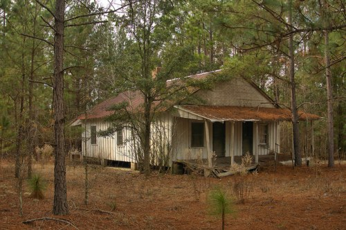 Dodge County GA Highway 23 Board and Batten House Tenant Style Photograph Copyright Brian Brown Vanishing South Georgia USA 2015