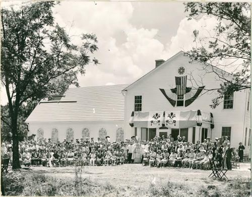 Douglas GA Historic Photograph fom Rogers Studio Collection Dedication Day at St Pauls Catholic Church 1938 Courtesy Tom Johnson