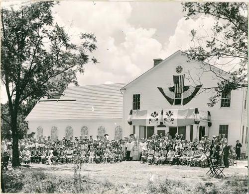 Douglas GA Historic Photograph fom Rogers Studio Collection Dedication Day at St Pauls Catholic Church 1938 Courtesy Tom Johnson