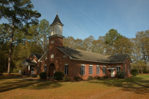 Historic Campground Methodist Church Bacon County GA Photograph Copyright Brian Brown Vanishing South Georgia USA 2015
