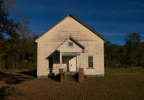 Historic Marys Chapel Methodist Church Abandoned Coffee County GA Photograph Copyright Brian Brown Vanishing South Georgia USA 2015