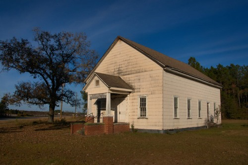 Historic Marys Chapel Methodist Church Coffee County GA photograph Copyright Brian Brown Vanishing South Georgia USA 2015