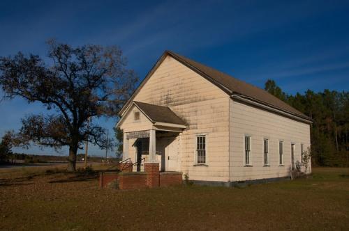 Historic Marys Chapel Methodist Church Coffee County GA photograph Copyright Brian Brown Vanishing South Georgia USA 2015